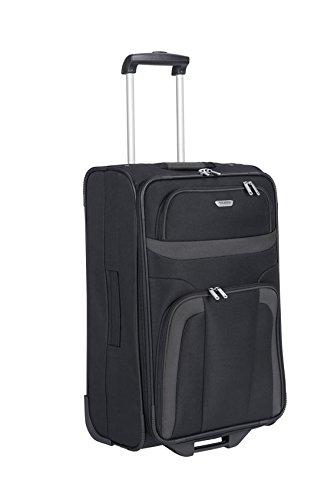 Travelite Orlando 2 - Rollen - Trolley 63 Cm, Schwarz, schwarz