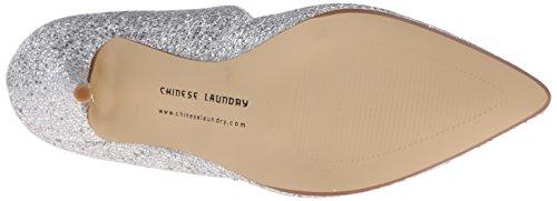 Damen Laundry Synthetik Glitter Stilo Spitz Stöckelschuhe Silver Chinese 6EdMPwqP