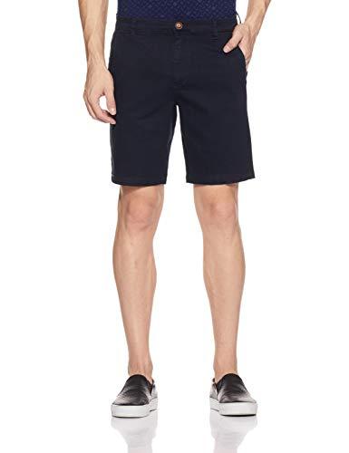 Amazon Brand - Symbol Men's Straight Fit Shorts (SS18-SMCT-0056_Dark Navy_32)