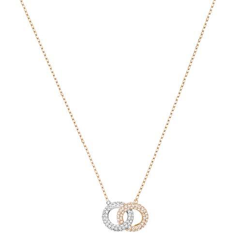 Swarovski Stone Halskette, Mehrfarbig, Rosé Vergoldung -