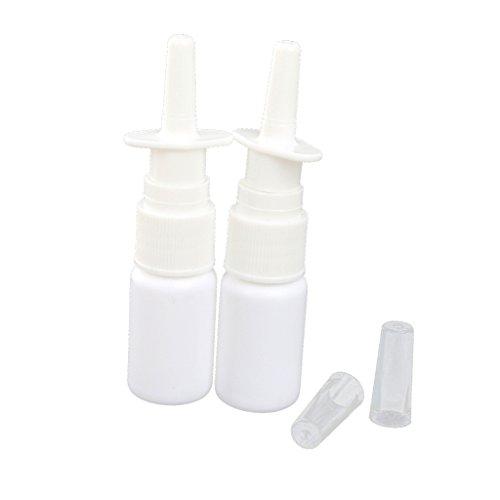 10ML Vaporisateur Plastique Vide Flacon de Pulvérisation Nasale avec Capuchon Blanc