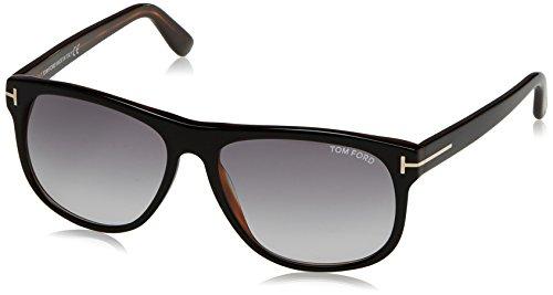 Tom Ford Herren FT0236 05B 58 Sonnenbrille, Schwarz (Nero/Altro/Fumo Grad),