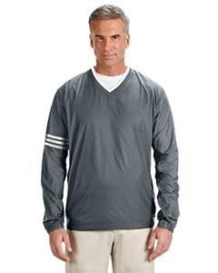 147 Mens adidas ClimaLite Farbe Block V-Ausschnitt Windshirt - Leitung & Schwarz, mittel (Windshirt Adidas)