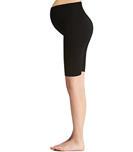 Gerippte Mini (Liang Rou Damen Kurze Umstands-Leggings Mini-Gerippt Elastisch Figurformend)