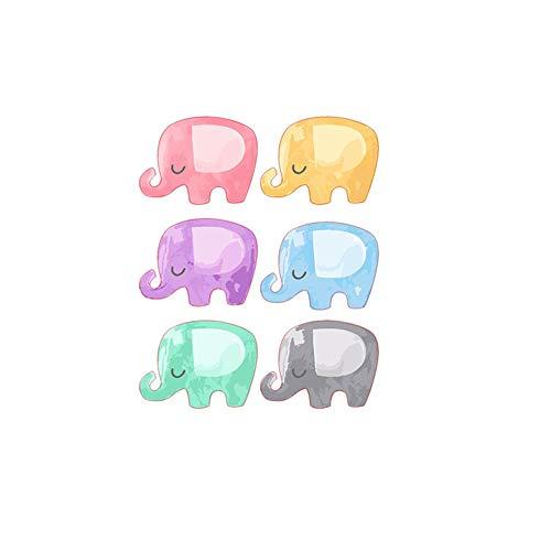 Sencillo Vida Elefantes Pegatina de Pared vinilo decorativo para cuartos, dormitorio,cocina, Colorful...