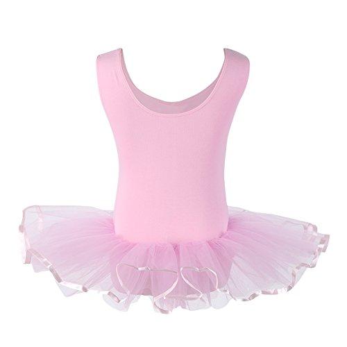 Kinder Mädchen Ballett Tutu Trikotanzug Ballett Kleid Rosa Weiß Lila 4-15 Jahre