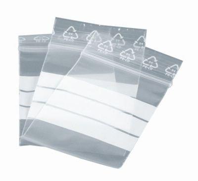 Druckverschlussbeutel LDPE 120 x 170 mm transparent Beschriftungsfeld weiß (500 Stück)