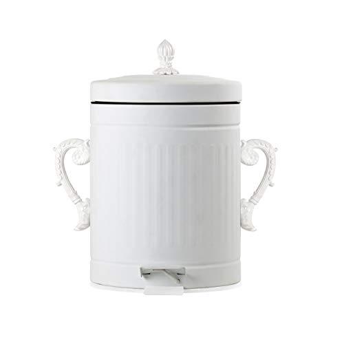 SELETTI – Poubelle Trash Chic la poussière, en métal, Blanc, 5 l, 20,5 x 28,5 cm