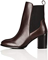 Amazon-Marke: find. High Heeled Leather Damen Chelsea Boots
