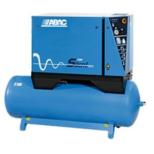 Compresseur d'air silencieux cylindres fonte rÃservoir horizontal 500 litres ABAC.