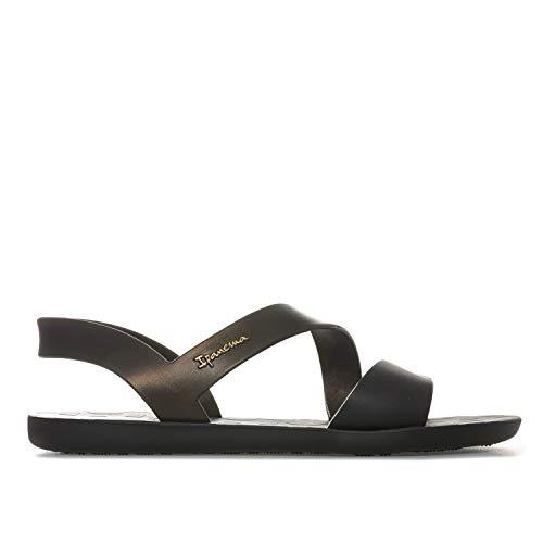 Ipanema Women's Vibe 21 Plastic Slip On Sandal Black Matt-Black-4 Size 4