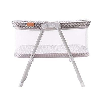 Venture Hush Lite Baby Crib, Compact Travel Cot 0-6 Months Grey