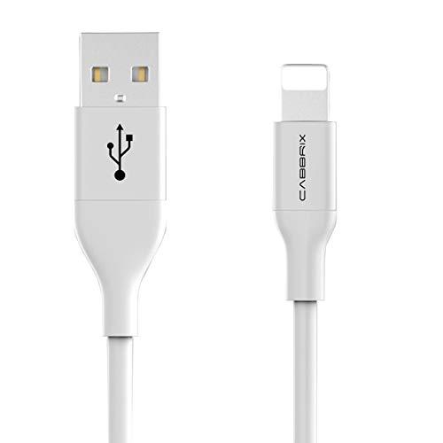 CABBRIX - Cavo di ricarica e dati per Apple iPhone X 10 8/8 Plus 5 5s 5c SE 6 6s/6s Plus 7/7 Plus iPad Pro mini 3 4 Pro Air, 2 m, colore: Argento
