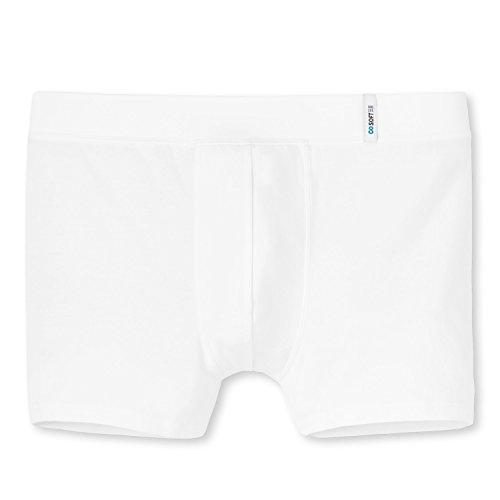 Schiesser Herren Shorts Long Life Soft Retroshort Boxershort atmungsaktive Unterhose Weiß
