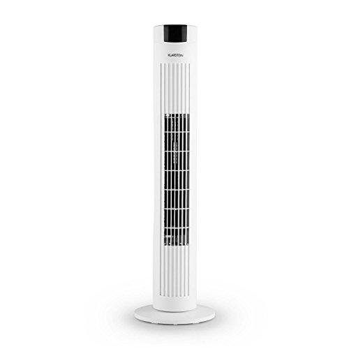 Klarstein Skyscraper 2G Turmventilator Standventilator Säulenventilator (Abschalt-Timer, platzsparend, 3 Geschwindigkeitsstufen, 40 Watt, Oszillation, 22,5 cm Ø, inkl. Fernbedienung) weiß
