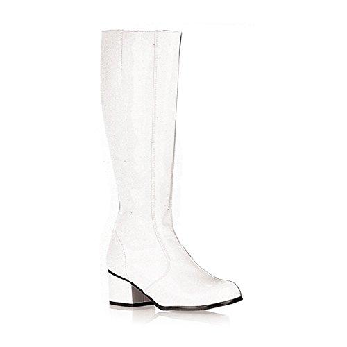 eval Fasching Halloween Kostüm Schuhe, Größe:EU-38 / US-8 / UK-5 (Weiße Gogo-stiefel Größe 5)