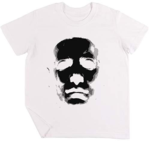 (Halloween Maske Kinder Jungen Mädchen Unisex T-Shirt Weiß)