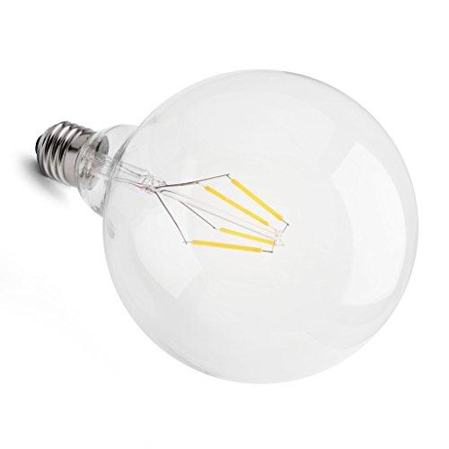 Preisvergleich Produktbild soft-LED Globe-Riesenbirne 4W ersetzt 40 Watt klar 125mm Ø Sockel E27 warmweiss