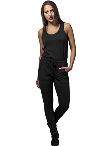 Urban Classics Damen Jumpsuit Ladies Melange, Schwarz Black 825, Large - 4