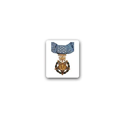 Copytec Aufkleber/Sticker -Medal of Honor Air Force Luftwaffe Army Ehrenmedaille Ehre Medaille USA US Streitkräfte Orden Heldenmut Amerika Militär Auszeichnung Verdienst Abzeichen 6x7cm #A3252