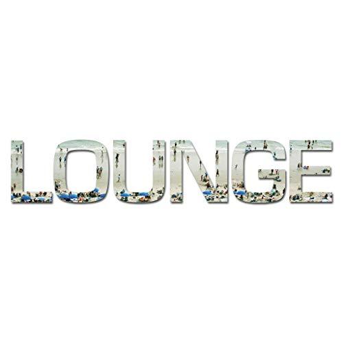 Cuadros Lifestyle Wanddekoration/Wandbuchstaben -3D Schrift/Schriftzug sommer 'LOUNGE', Größe:ca....