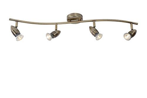 Lucide Lámpara de techo con focos GU10, 5 W, marrón 9 cm...