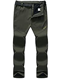Syrads Pantalones Deportivos al Aire Libre para Hombres Hidrófugo Pantalones de Trekking de Escalada de Excursionismo