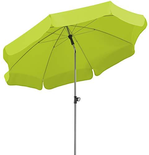 Schneider Sonnenschirm Locarno, apfelgrün, 200 cm rund, Gestell Stahl, Bespannung Polyester, 2.4 kg