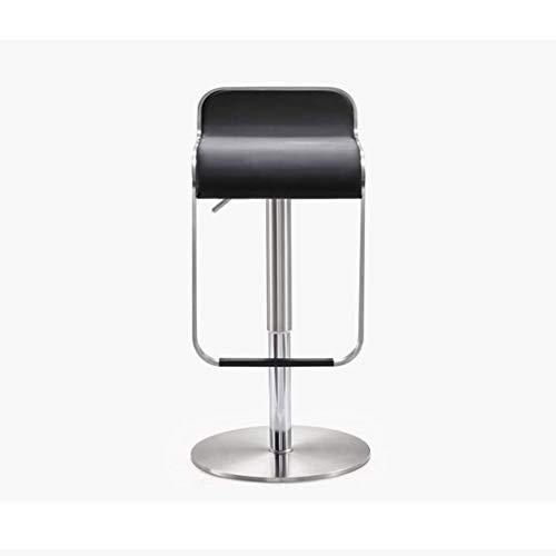 QYSZYG Liftstuhl aus gebürstetem Edelstahl Barhocker Hochstuhl nach Hause Esszimmerbarstuhl moderner Barstuhl (Color : Black) (Zum Foto-requisiten Verkauf)