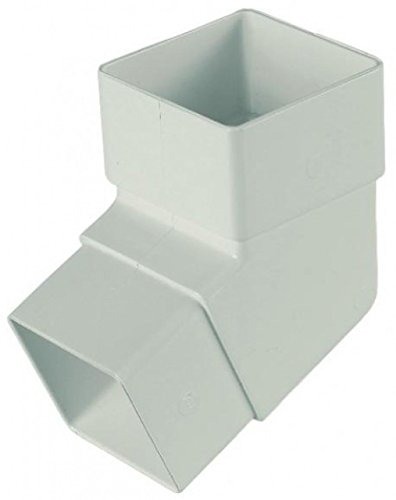 FLOPLAST 65mm Square Downpipe 112.5 Degree Offset Bend - White by FloPlast - Offset-drain