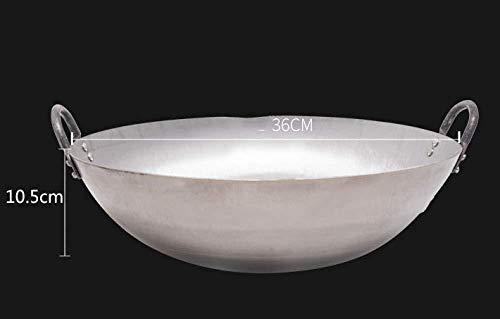 YLFW Gourmet Antihaft-Induktionswok Ohne Deckel , Bratpfanne Für rutschfeste Kühle Griffe 36 cm 36 cm,60cm (Non-stick-grill-wok)