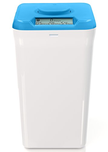 Kitchen Safe: Verschließbarer Behälter mit Zeitschaltuhr (Blue Lid + XL White Base) - 10.4