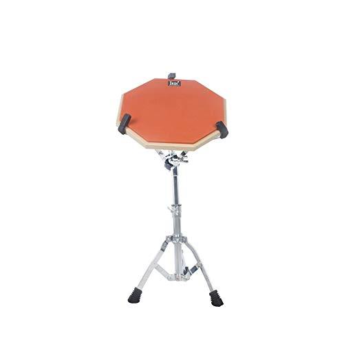Yaoaomon 12-Zoll-Drum-Übungsmatte Hit Board-Übungsdämpfer für Anfänger Ruhiges Training Drum Pad - orange