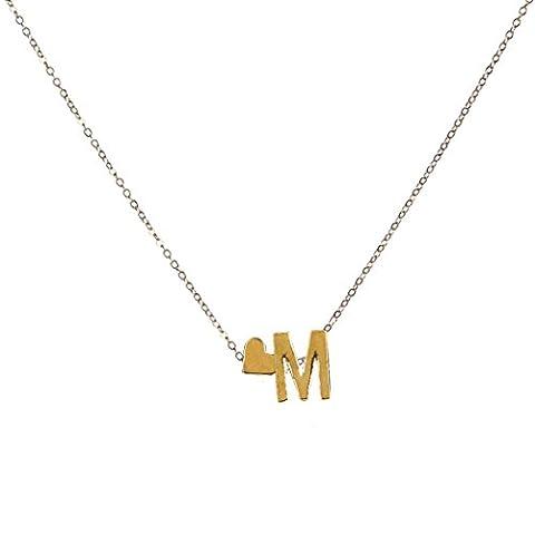 OverDose 26 englisch Buchstaben Name Liebe Herz Kette Anhänger Halsketten Schmuck Necklaces Jewelry (M)