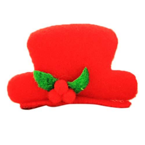 Fermagli per capelli con LED a forma di cappello di Babbo Natale b