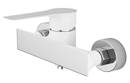Duscharmatur Badewanne Armatur Weiß Chrom Mischbatterie Einhebelarmatur Einhandmischer KNX