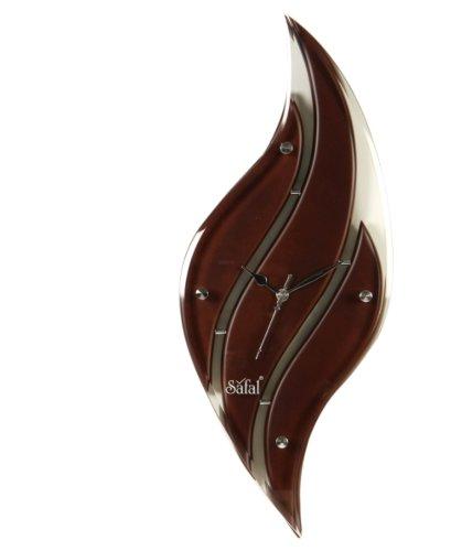 Safal Wooden Wall Clock (43.18 cm x 22.86 cm, Brown)