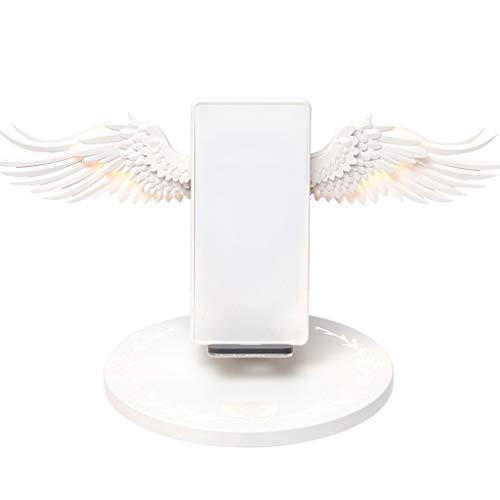 William-Lee Universal 10 W Angel Wings Kabelloses Schnellladegerät, Lade-Dock-Ständer, mehrfarbige LED-Lichter, Anzeige kompatibel mit iPhone, Samsung, Huawei Xiaomi Handy -