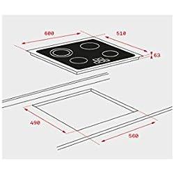Teka TB6310 Integrado Cerámico Negro - Placa (Integrado, Ceramic hob, Vidrio, Negro, Sin marco, Tocar)