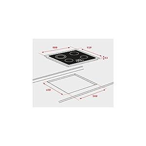 Teka TB6310 Integrado Cerámico Negro – Placa (Integrado, Cerámico, Vidrio, Negro, 14,5 cm, 18 cm)