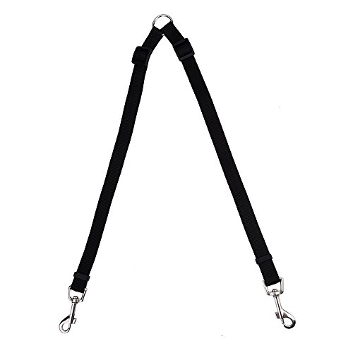 eBoot Adjustable Double Dog Leash Lead Splitter Coupler, Black