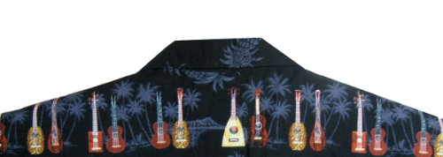 Hawaiihemd Hawaiishirt original made in Hawaii Schwarz