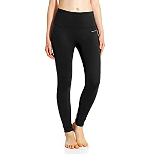 Baleaf Damen High Waist Leggings Yoga Lange Yogahose Laufhose Workout