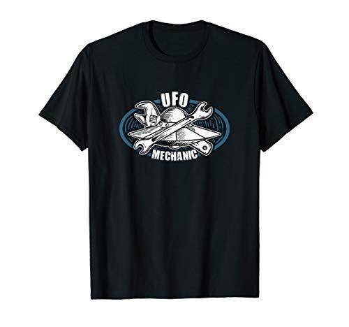Alien Kostüm Geschenk | UFO Mechaniker für Untertassen T-Shirt (Kind Mechaniker Kostüm)