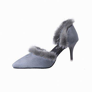 Moda Donna Sandali Sexy donna tacchi inverno Pelliccia Ufficio pompa & Carriera / Party & sera abito / / Casual Stiletto Heel Black