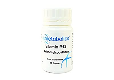 Vitamin B12 1000mg- Cobalamin (Adenosylcobalamin) Pot of 60, 1000mcg capsules from Metabolics