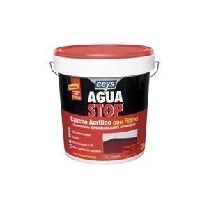Aguastop ceys M122186 - Impermeabilizante aquastop caucho acrilico con fibras 5 kg rojo