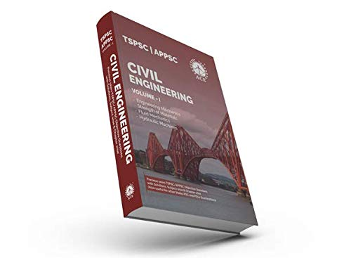 TSPSC & APPSC Civil Engineering Volume 1, Engineering Mechanics, Strength of Materials, FM & HM Previous Objective Questions with Solutions, Subject wise & Chapter wise