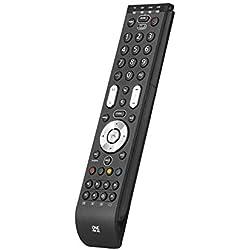 Télécommande universelle One For All Essence 4 - Noire - Télécommande Parfaite de remplacement TV Décodeur DVD Blu-ray et appareils Audio- Garantie de fonctionner avec toutes les marques. URC 7140