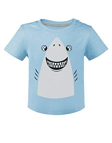 Déguisement de Requin Facile à Porter Halloween T-Shirt Bébé Unisex 12M Bleu Ciel